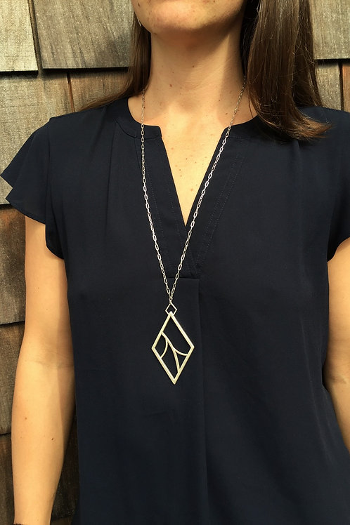 Large Organic Diamond Pendant