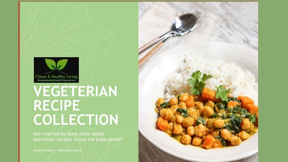 Enjoy meat free living with 30 delicious vegetarian  recipes
