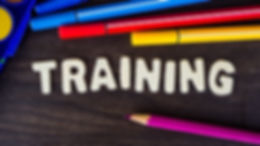 Business Training banner, Training word.