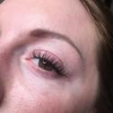 Healed Powder Brow & Eyelash Extensions.