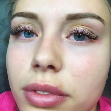 Eyelash Extensions & Healed Powder Brow.