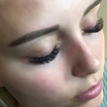 Volume Eyelash Extensions & Powder Brow