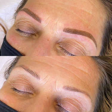 Powder Brow Cover Up Over Old Microbladi