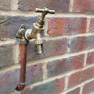Outside tap installation