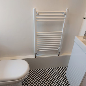New toilet, towel rail and boxing