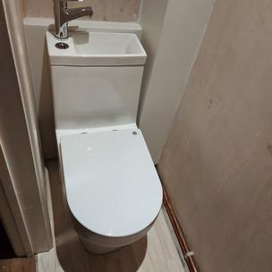 Toilet & basin unit installation