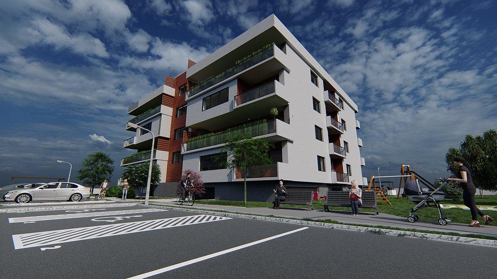 bytový dům vizualizace návrh