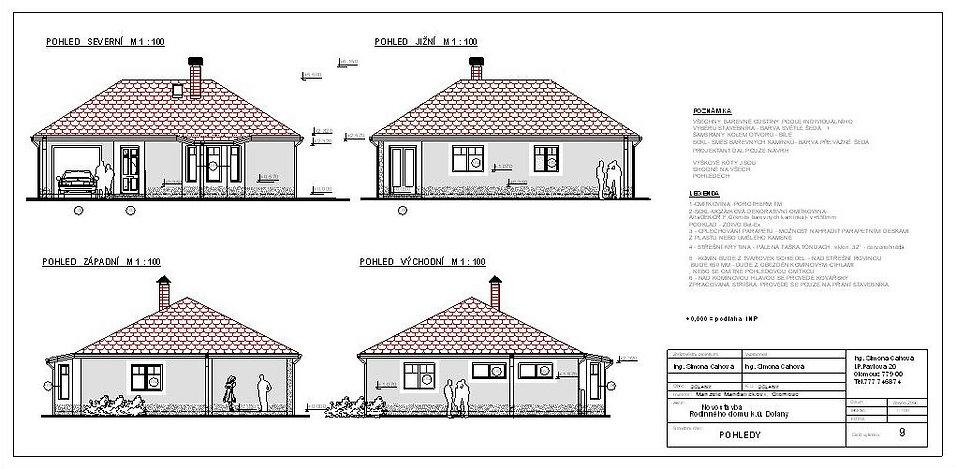 dolany projekt pro stavební povolení