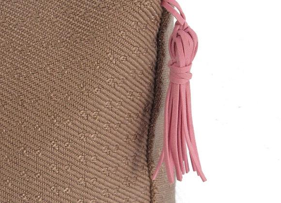 Le pouf huppé - rose 2 tons