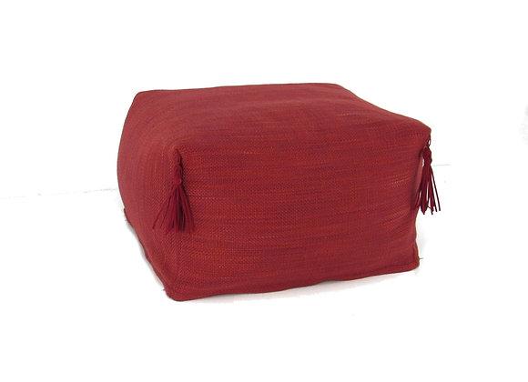 Le pouf huppé - rouge