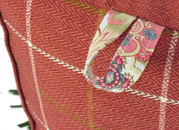 Le pouf à toupet - rose orangé