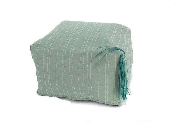 Le pouf à toupet - turquoise