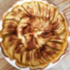 Une délicieuse tarte aux pommes sans glu