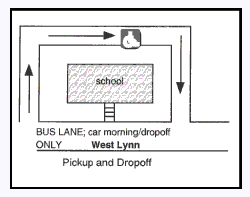 Pickup and Dropoff Areas