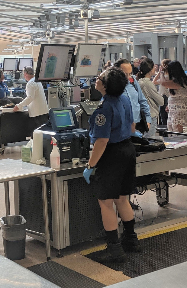 TSA agent is puzzled!