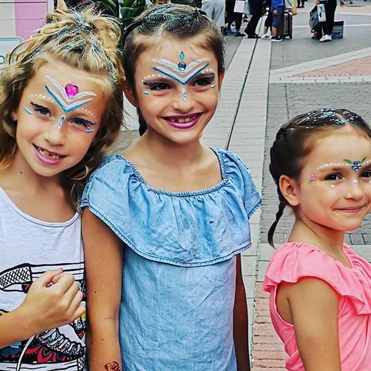 Happy Girls 💜__#kinderschminken_#kinder