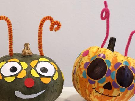 """""""LA CATRINA"""" Kürbisse. Wir feiern Halloween und das mexikanische Totenfest."""