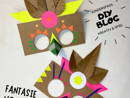 EASY PEASY BASTELVORLAGE - Maskenball für bunte Fantasievögel.