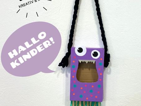 CANDY BAG - Eine süße Tasche aus altem Karton für eine Schatzsuche @ Home!