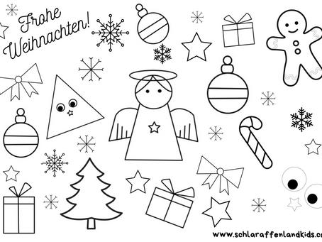 SCHLARAFFENLAND WEIHNACHTSWELT - Weihnachtskarte zum selbst gestalten.