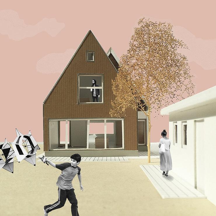 Kevin Veenhuizen Architects / Verduurzaming en Aanbouw Limmen / Maquette achtergevel