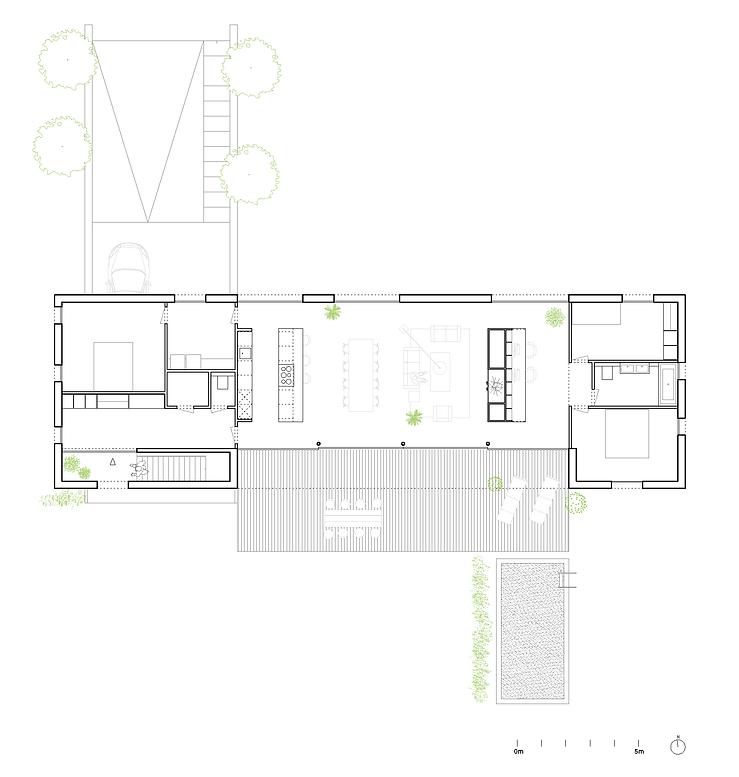 Kevin Veenhuizen Architects / villa Lelystad / plattegrond