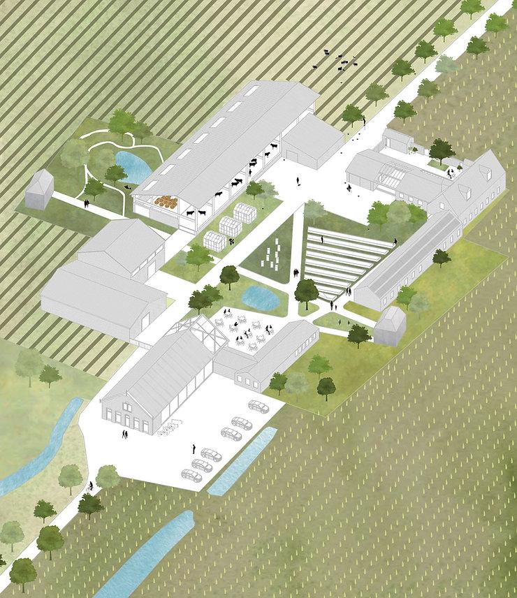 Kevin Veenhuizen Architects / Eco Boerderij Breukelen / binnenplaats