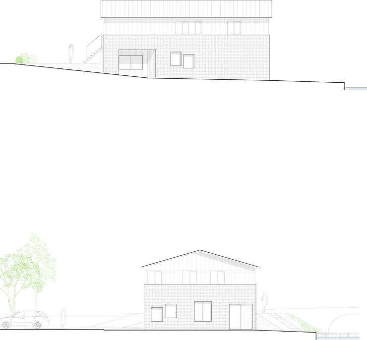 Kevin Veenhuizen Architects / vrijstaande woning Avenhorn / pakhuis aanzicht