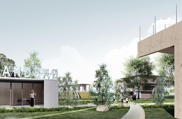 Kevin Veenhuizen Architects / Strandbad / render