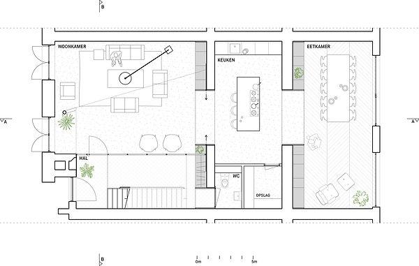 Kevin Veenhuizen Architects / verbouwing Carre van Bloemendaal / plattegrond