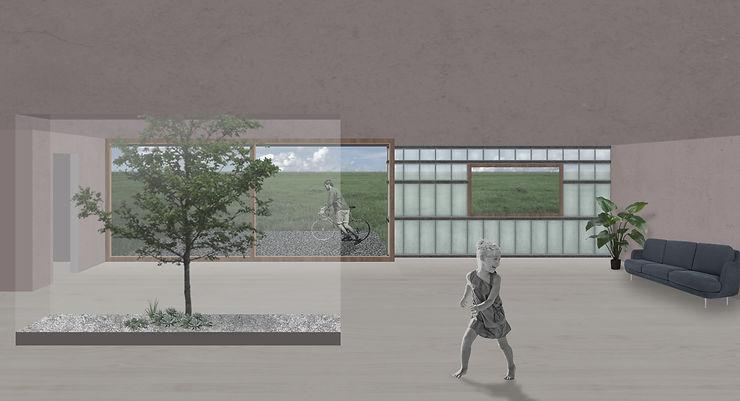 Kevin Veenhuizen Architects / villa Driebergen / visualisatie interieur