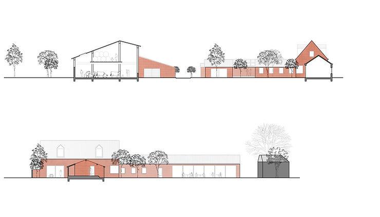 Kevin Veenhuizen Architects / Eco Boerderij Breukelen / doorsnede