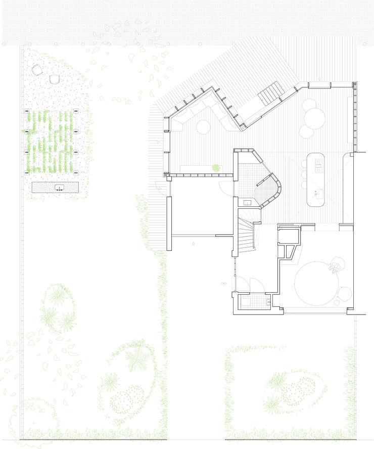 Kevin Veenhuizen Architects / Duurzame verbouwing en Aanbouw Uithoorn / Plattegrond