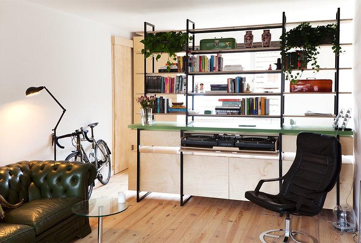 Kevin Veenhuizen Architects / studio verbouwing Amsterdam / inbouwmeubel op maat