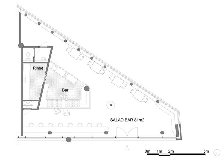 Kevin Veenhuizen Architects / Saladebar Vers Hilversum / plattegrond