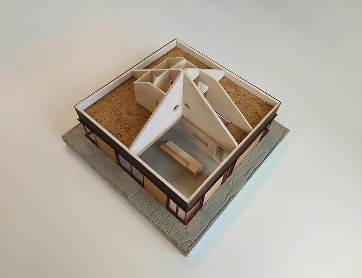 Kevin Veenhuizen Architects / bosvilla Sancta Maria Noordwijk / vide en houten tentdak