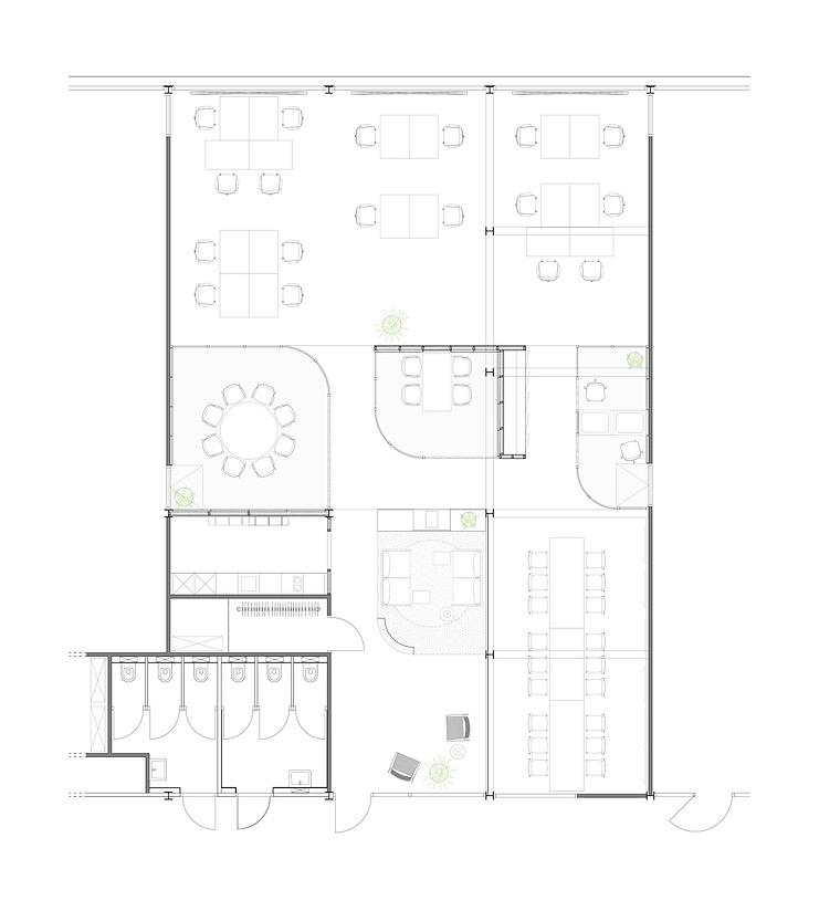 Kevin Veenhuizen Architects / M3 Consultancy / plattegrond