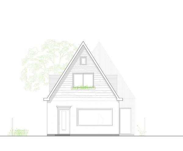 Kevin Veenhuizen Architects / Verduurzaming en Aanbouw Limmen / Voorgevel