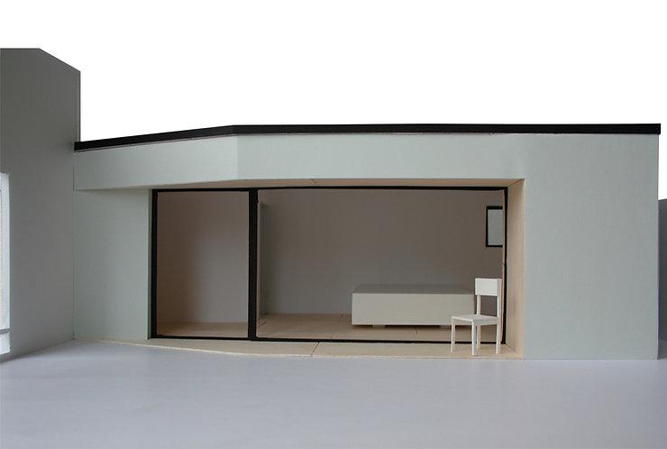 Kevin Veenhuizen Architects / aanbouw mindervalide Westervoort / maquette