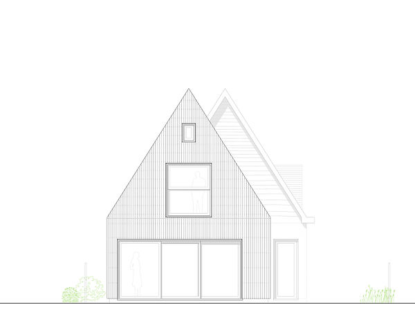 Kevin Veenhuizen Architects / Verduurzaming en Aanbouw Limmen / Achtergevel