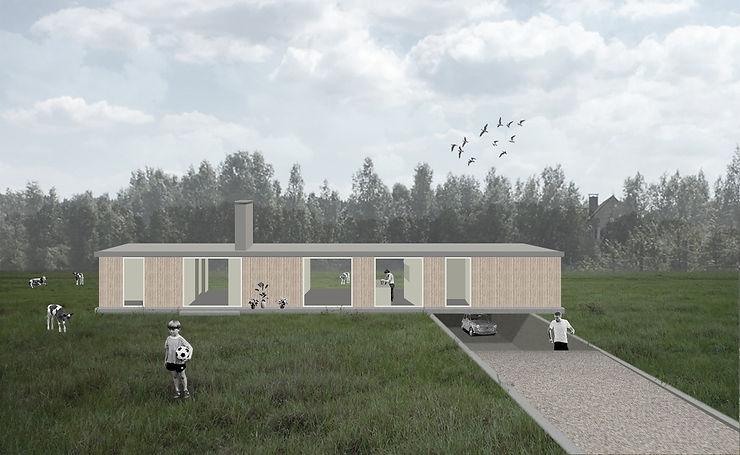 Kevin Veenhuizen Architects / villa Lelystad / visualisatie buitenkant