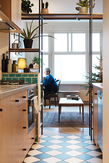 Kevin Veenhuizen Architects / verbouwing appartement Amsterdam / keuken op maat