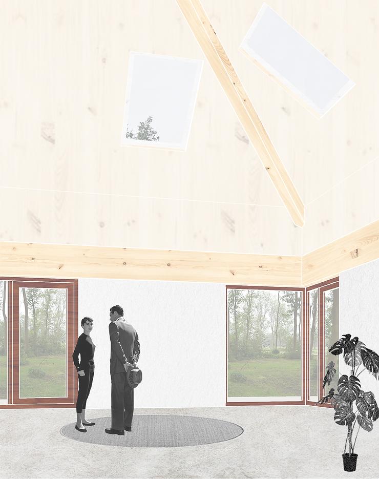 Kevin Veenhuizen Architects / bosvilla Sancta Maria Noordwijk / houten interieur