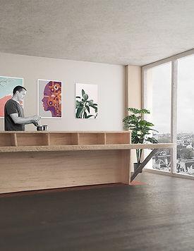 Kevin Veenhuizen Architects / Loft interieur op maat in casco Top_up Amsterdam