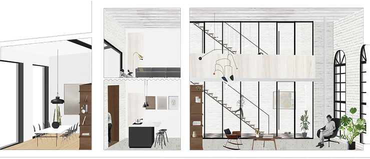 Kevin Veenhuizen Architects / verbouwing Carre van Bloemendaal / loft interieur