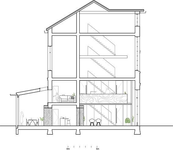 Kevin Veenhuizen Architects / verbouwing Carre van Bloemendaal / doorsnede