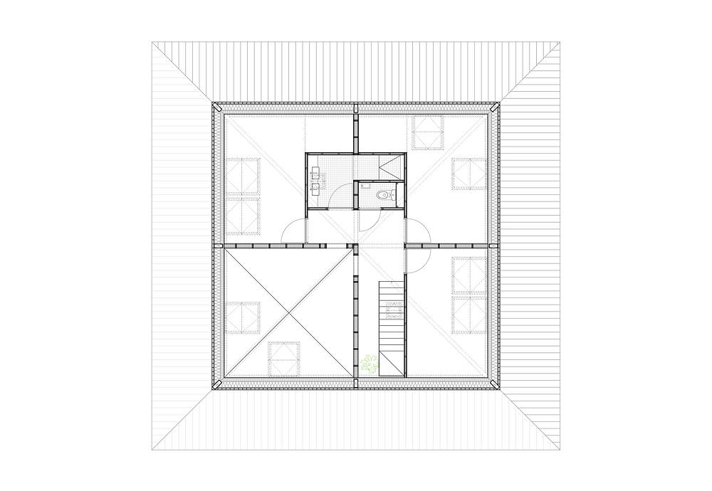 Kevin Veenhuizen Architects / bosvilla Sancta Maria Noordwijk / vierkante plattegrond