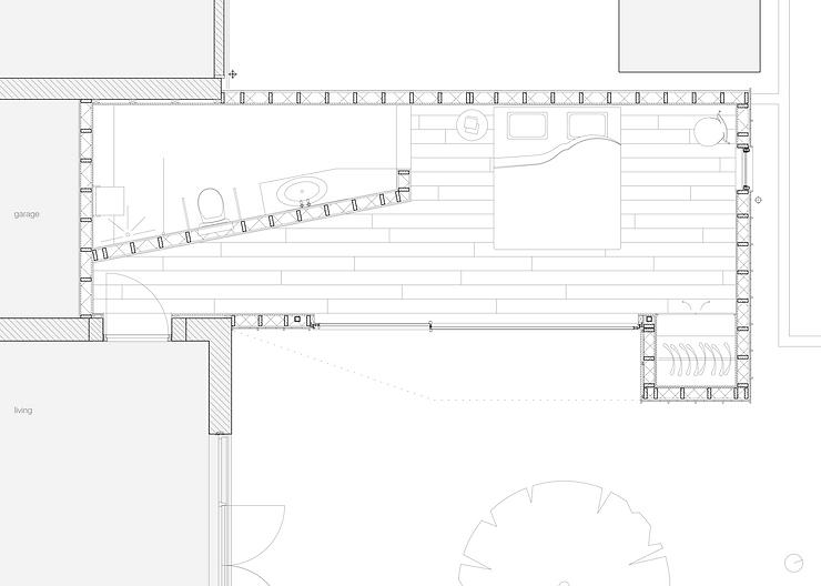Kevin Veenhuizen Architects / aanbouw mindervalide Westervoort / plattegrond
