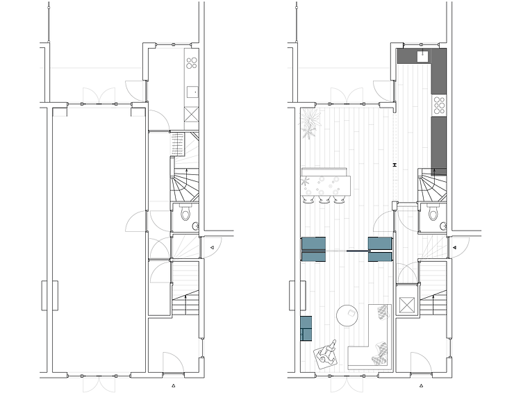 Kevin Veenhuizen Architects / Ensuite verbouwing Amsterdam / plattegrond