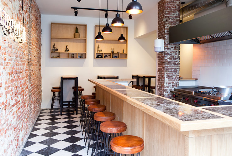 Kevin Veenhuizen Architects / burger bar Burgerlijk Amsterdam / horeca interieur